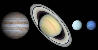 Caracteristicas de los planetas exteriores